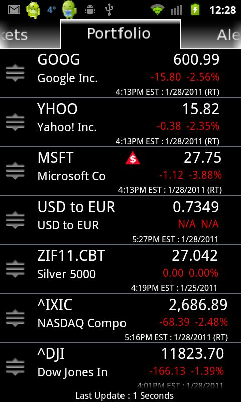 Stock Alert Pro - screenshot