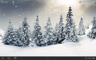 Screenshot of Live Snow Wallpaper