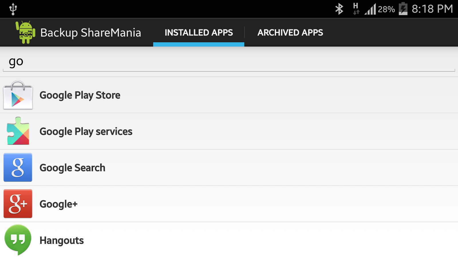 Backup ShareMania - Android Apps on Google Play