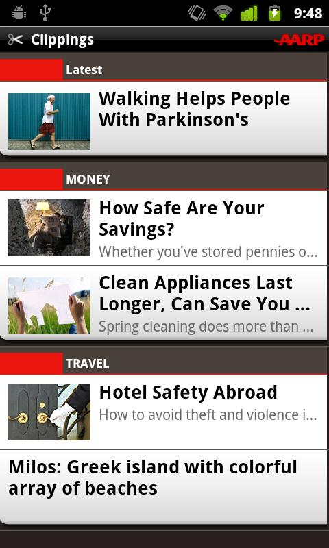 AARP - screenshot