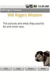 Will Rogers Wisdom