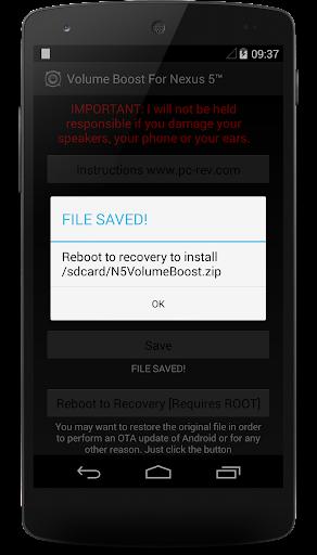 Volume Boost For Nexus 5u2122 2.1.4 screenshots 2