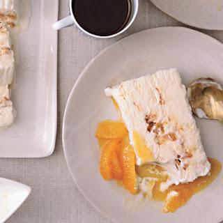 Tangerine Semifreddo with Salted Almond Brittle