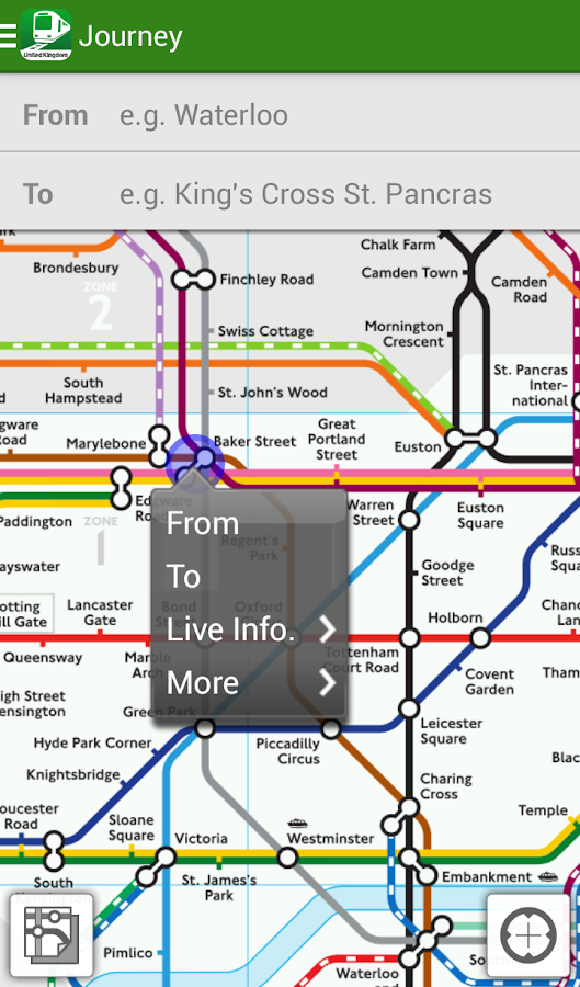 Transit London UK by NAVITIME- screenshot