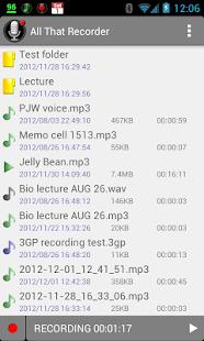 All That Recorder Lite - screenshot thumbnail