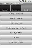 Screenshot of Real 3D Sounds