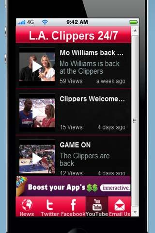 L.A. Clippers 24/7 - screenshot