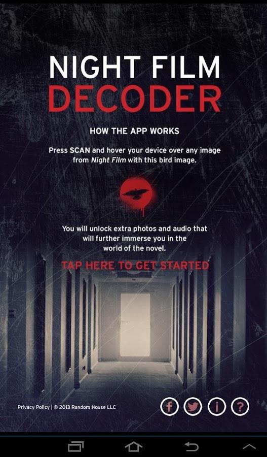 Night Film Decoder - screenshot