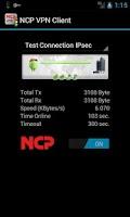 Screenshot of NCP VPN Client
