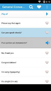 Learn Italian Phrasebook- screenshot thumbnail