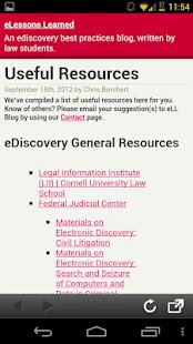 eLLBlog eDiscovery Toolbox- screenshot thumbnail