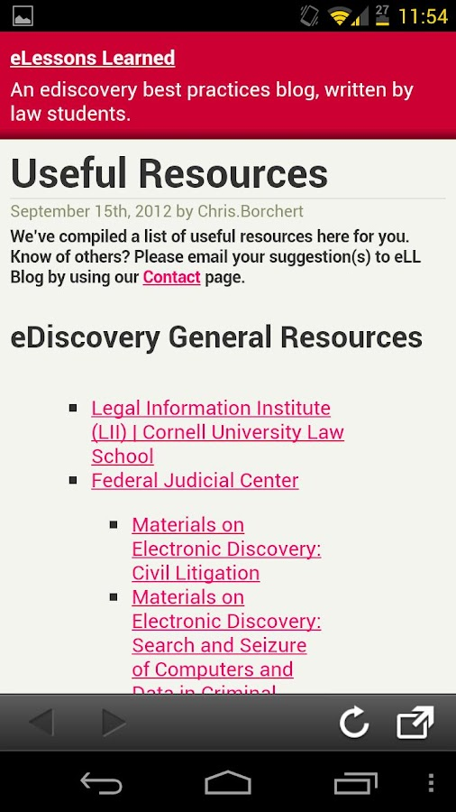 eLLBlog eDiscovery Toolbox- screenshot