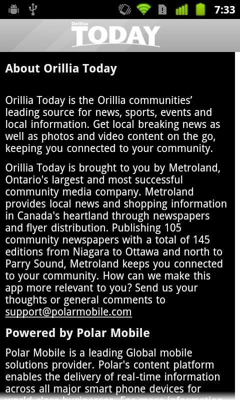 Orillia Today- screenshot