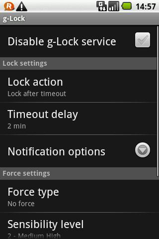g-Lock demo, lock screen enh - screenshot