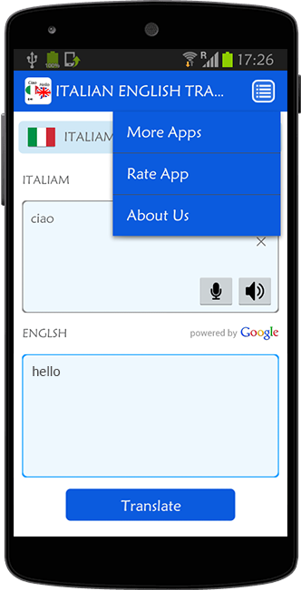 English To Italian Translator Google: Translation From English To Italian