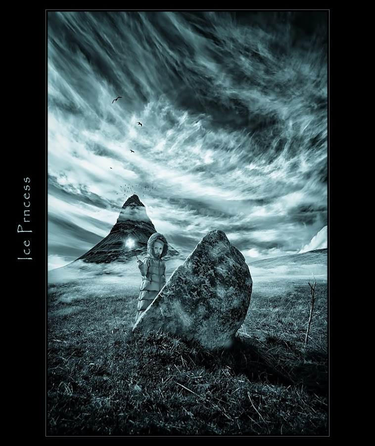 Ice princess by Marian Bielik - Typography Captioned Photos ( clouds, hill, magic, nature, baby, spell )