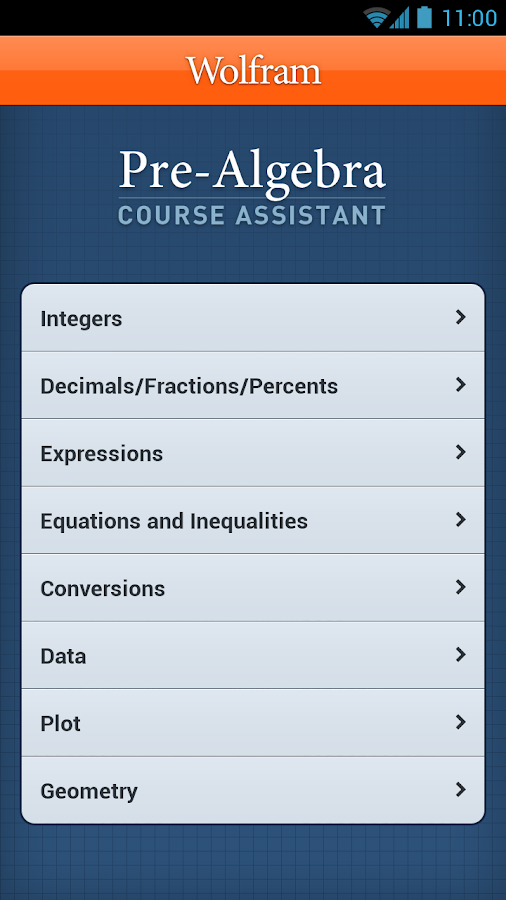 Pre-Algebra Course Assistant - screenshot