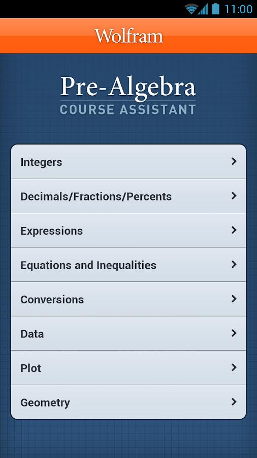 Pre-Algebra Course Assistant- screenshot