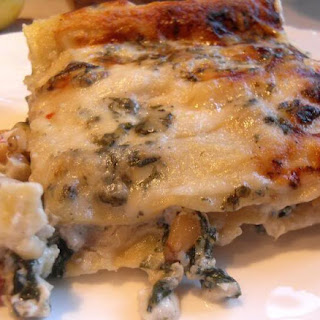 *Summer Vegetable Lasagna with Blue Cheese and Pinenuts*.
