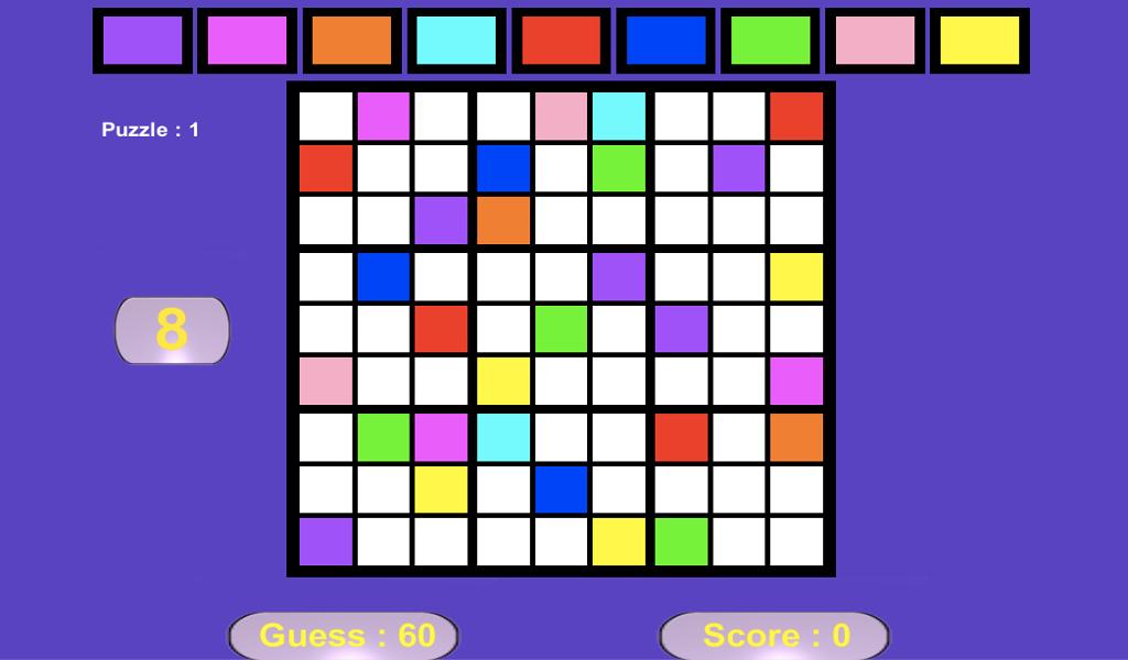 Colour Sudoku- screenshot