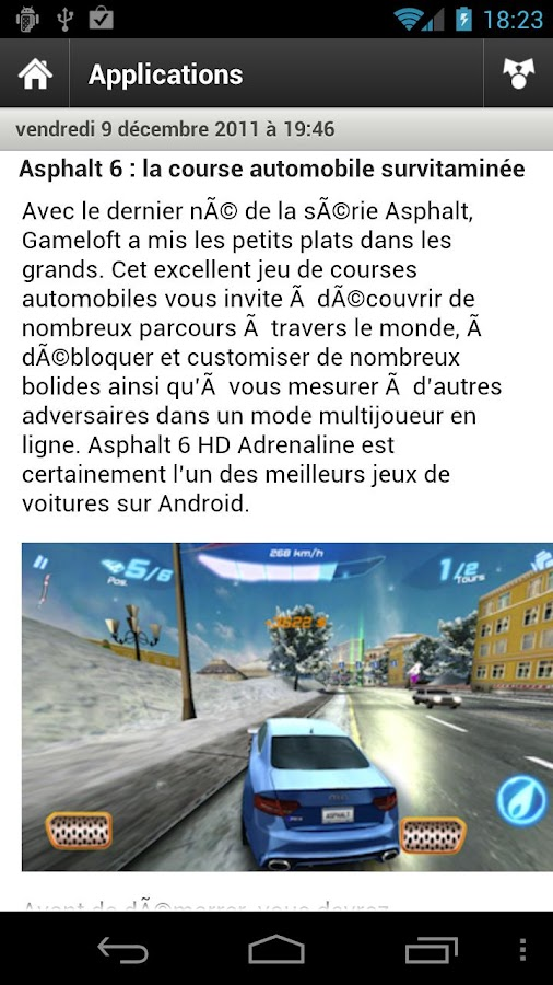 Les Applications Android (LAA)- screenshot