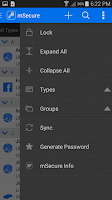 Screenshot of mSecure Password Manager