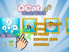 Screenshot of QCat - toddler's ocean world