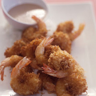 Coconut Shrimp with Tamarind Ginger Sauce.