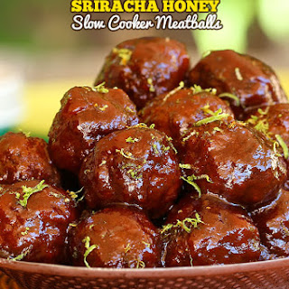 Sriracha Honey Slow Cooker Meatballs.