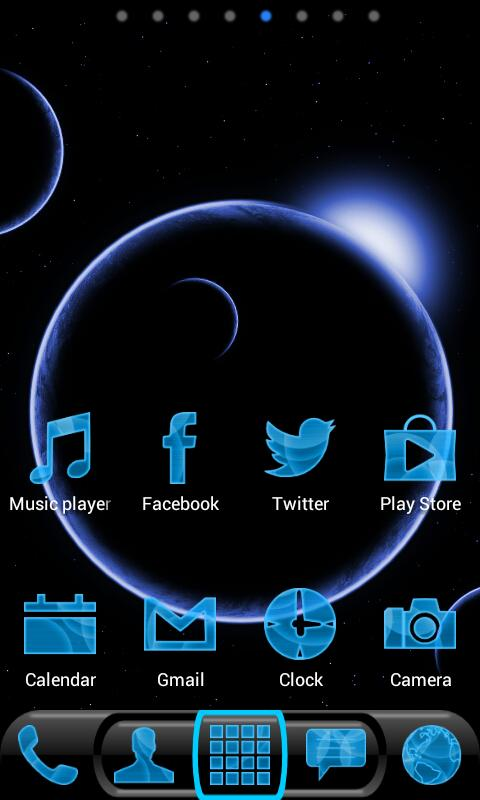 Future Phone Blue Theme Free - screenshot