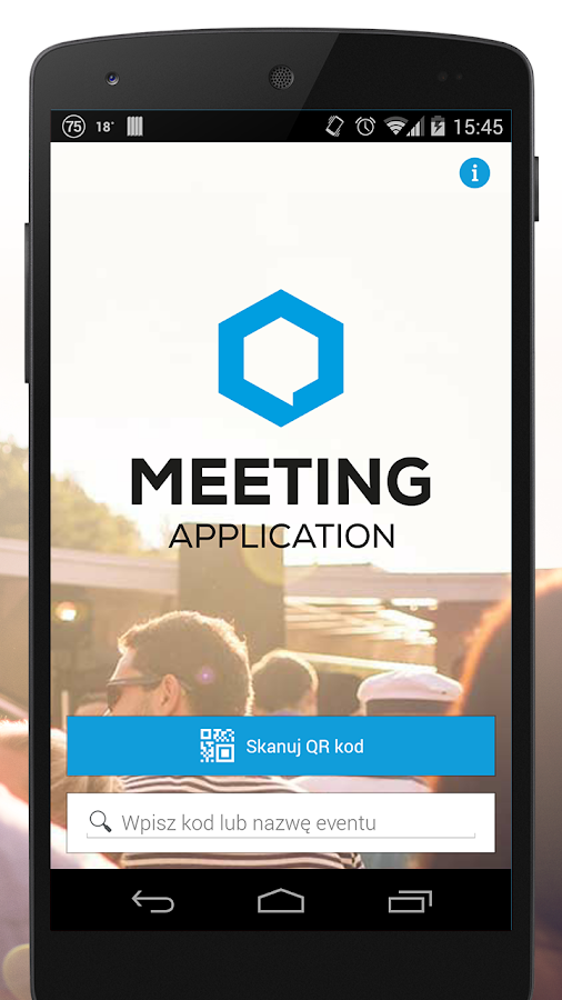 Meeting Application- screenshot