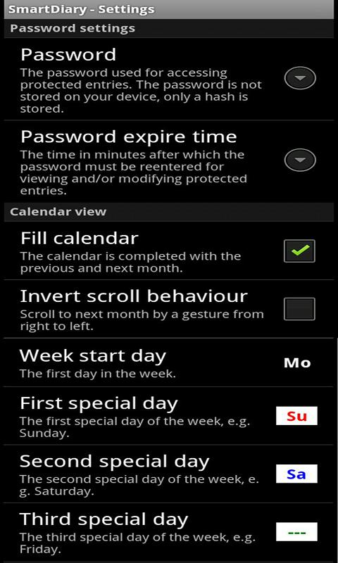 SmartDiary - screenshot