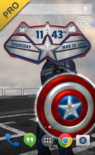 Captain America: TWS Live WP - screenshot