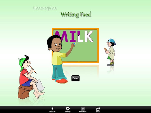 Writing Food Word