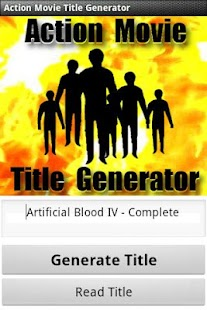 Action Movie Title Generator - screenshot thumbnail