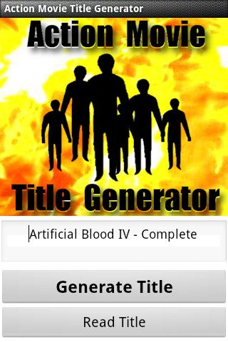 Action Movie Title Generator - screenshot