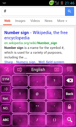 Go Keyboard Pink For Ladies