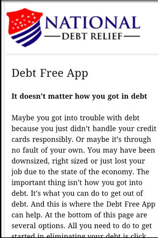 Debt Free App - screenshot
