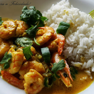 Coconut Curry with Shrimp.
