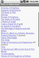 Screenshot of Works of William Blake