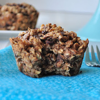 Almond Butter Chocolate Chip Baked Oatmeal.