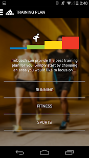 miCoach train & run- screenshot thumbnail