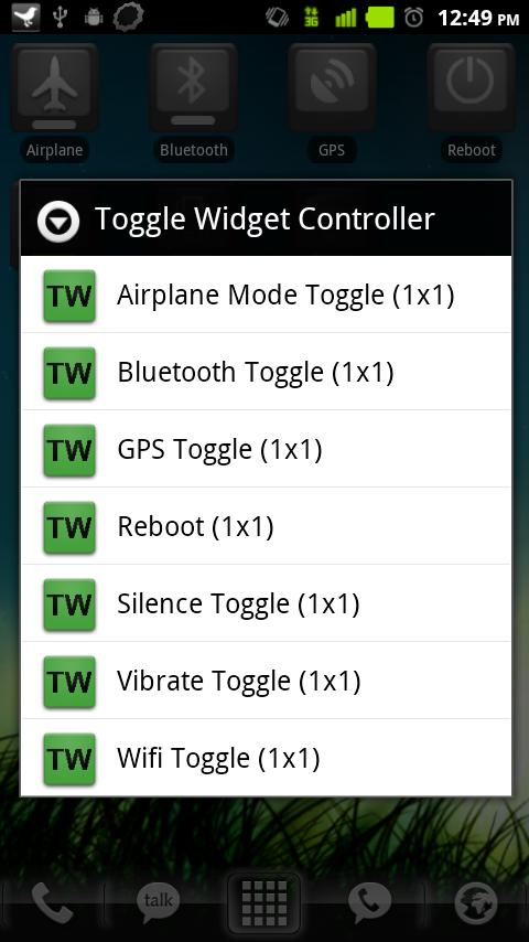 Toggle Widgets Pack- screenshot