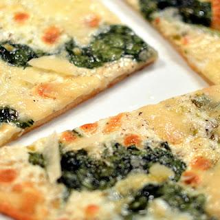 Pizza with Scallion Cream & Baby Arugula