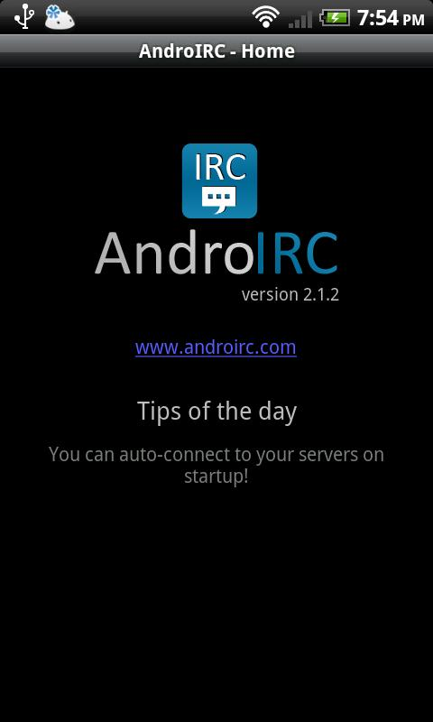 AndroIRC premium- screenshot