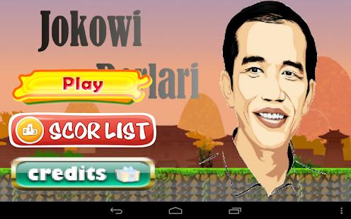 Jokowi Berlari