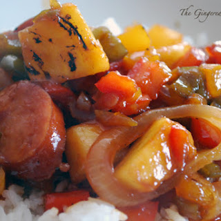 Sweet and Sour Kielbasa.