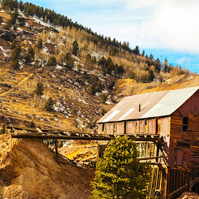 Lost  by Derrick Leiting - Buildings & Architecture Decaying & Abandoned ( mining, sky, winter, warm, nature, victor, art, colorado, trees, landscape, decrepit, abandoned, building )