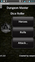 Screenshot of Dungeon Master Dice Roller