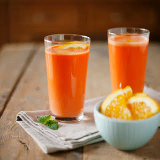 Carrot and Orange Fresh Pressed Juice.